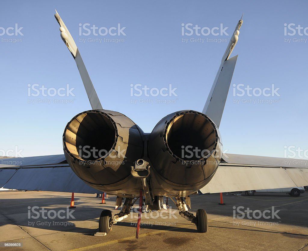 Jerfighter rear view royalty-free stock photo