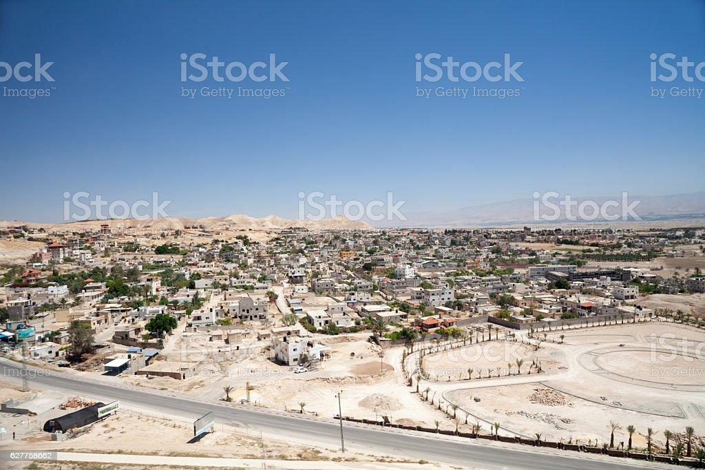 Jericho cityscape. stock photo
