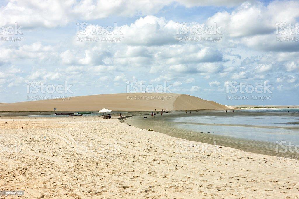 Jericoacoara beach royalty-free stock photo