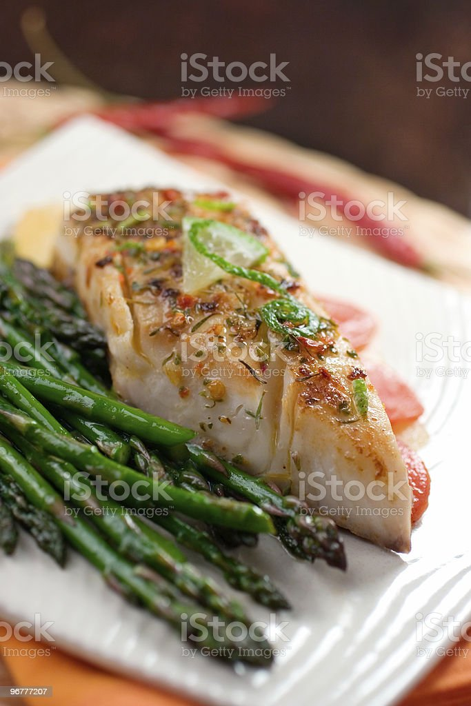 Jerk Spiced Tilapia stock photo
