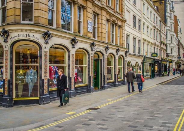 Jermyn Street, West End de Londres - foto de stock