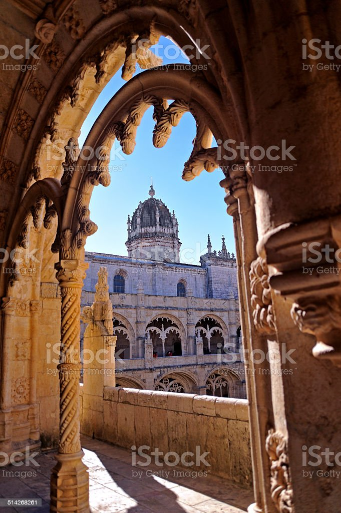 Jerónimos Monastery, Lisbon stock photo