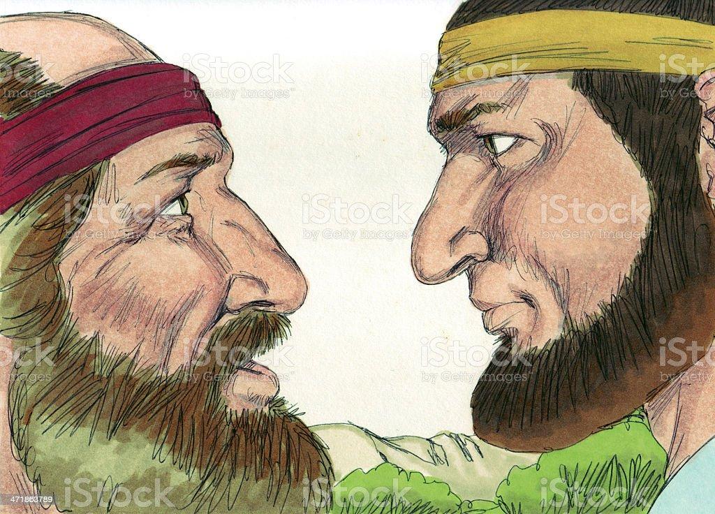 Jeroboam and Prophet royalty-free stock photo