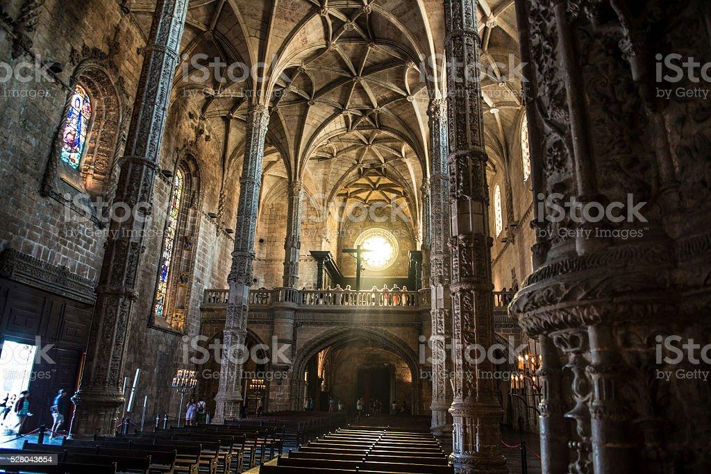 Jeronimos Monastery, Belem, Lisbon, Portugal stock photo