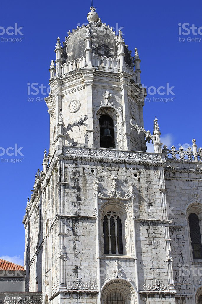 Jeronimos monastery in Belem royalty-free stock photo