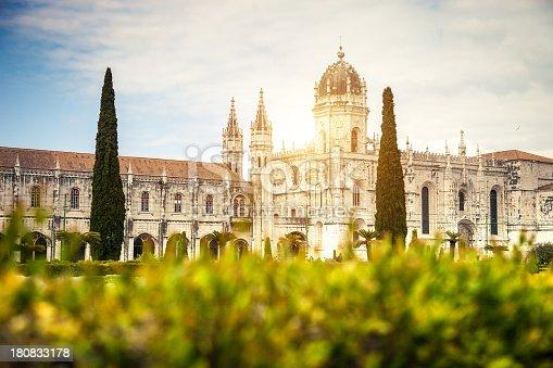 Jeronimos Monastery in Lisbon, Portugal.