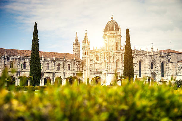 Jeronimos Monastery in Lisbon, Portugal Jeronimos Monastery in Lisbon, Portugal. monastery stock pictures, royalty-free photos & images
