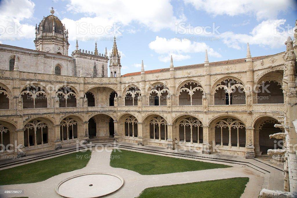 Jeronimos Monastery stock photo