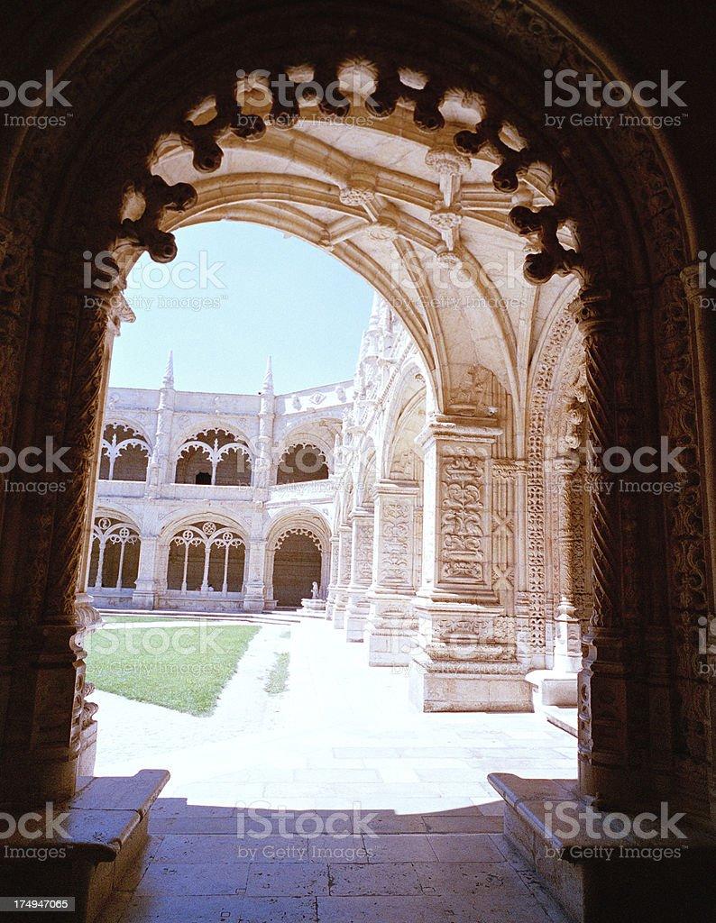 Jeronimos Monastery, Portugal royalty-free stock photo
