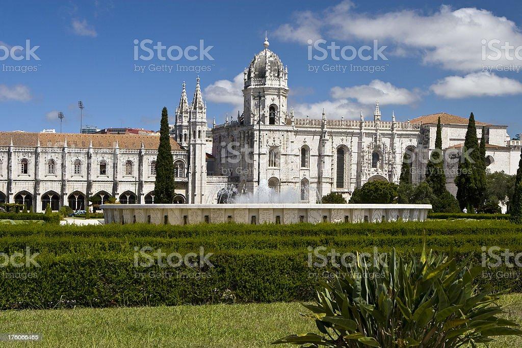 Jeronimos Monestary Lisbon royalty-free stock photo