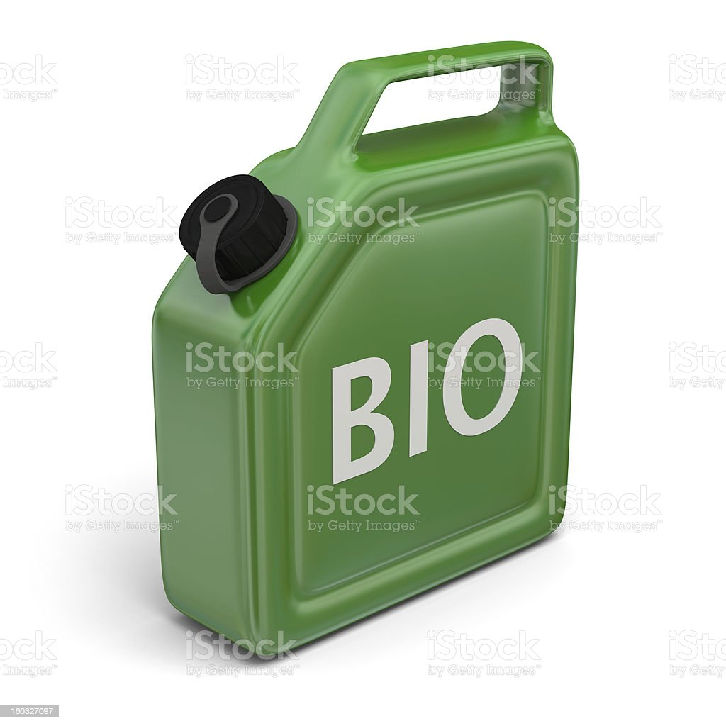 Jerry can with bio fuel royalty-free stock photo