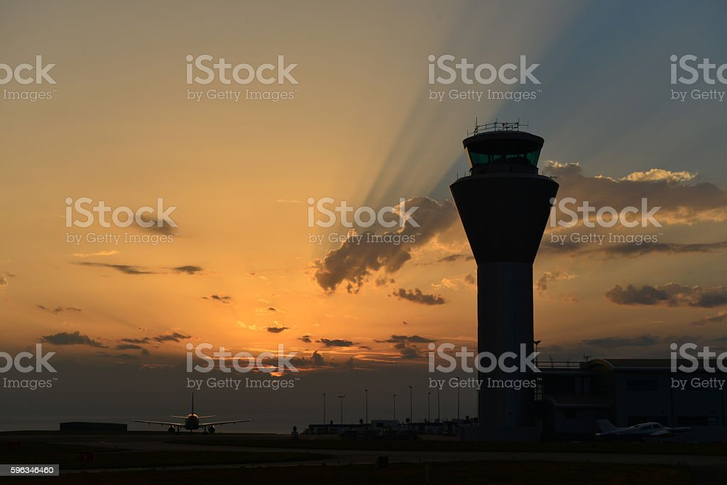 Jersey Airport, U.K. stock photo