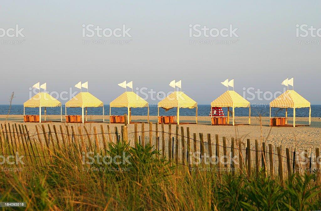 Jersey beach tents stock photo