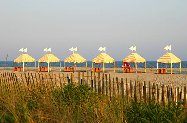 Jersey beach tents stock photo
