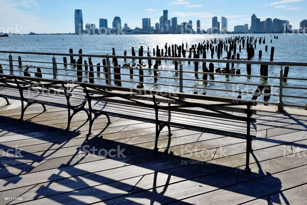 Jersey City and Hoboken waterfront stock photo
