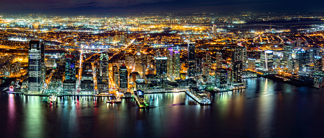 Jersey City Panorama Stock Photo - Download Image Now