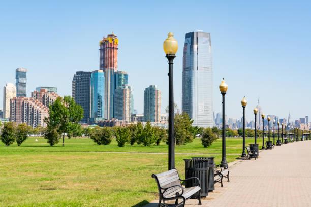 Jersey City Skyline stock photo