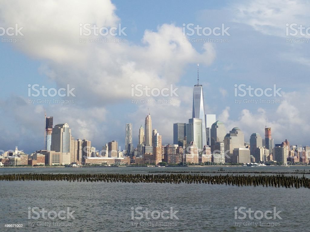 Jersey City to Lower Manhattan stock photo