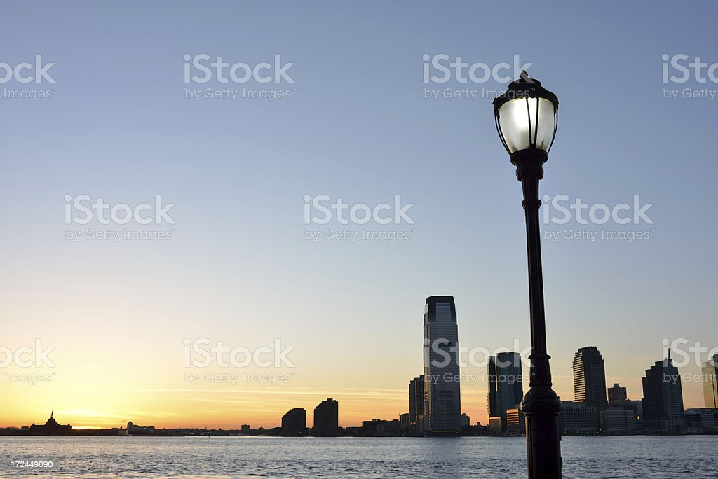 Jersey City View from Battery Park royalty-free stock photo