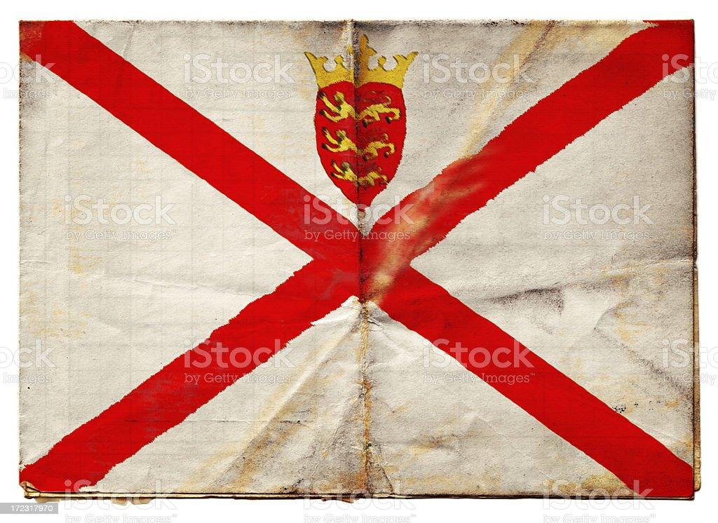Jersey flag (XXL) royalty-free stock photo