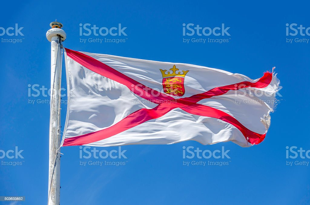 Jersey Flag stock photo