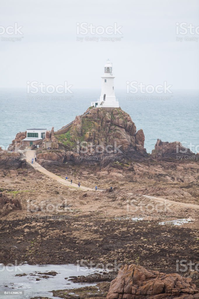 Jersey island lighthouse stock photo