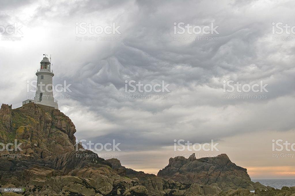 Jersey Lighthouse stock photo