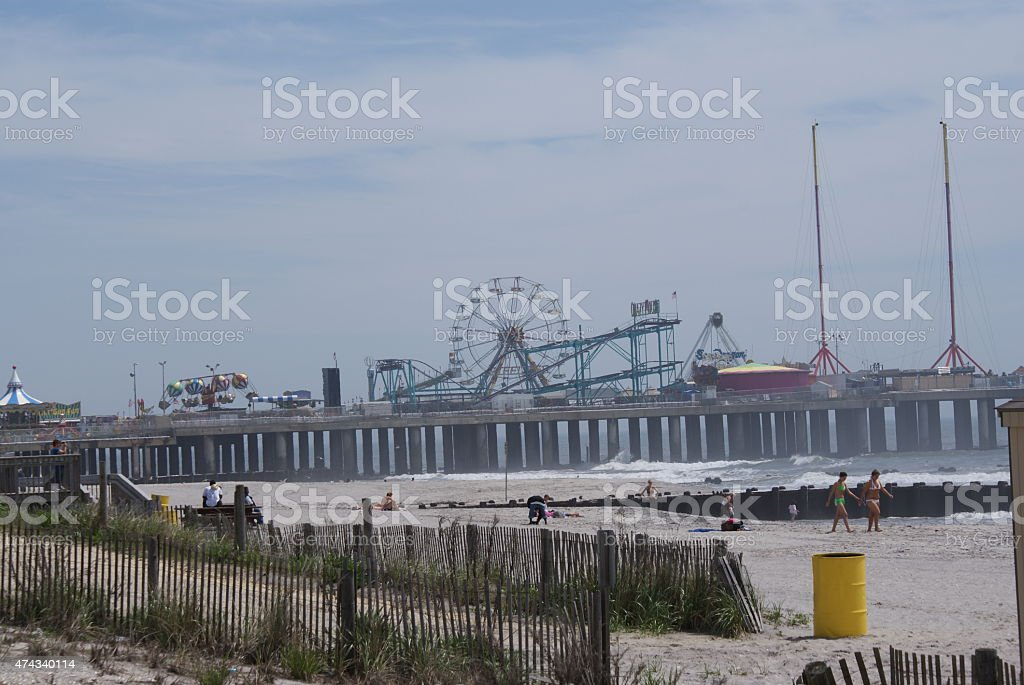 Jersy Boardwalk stock photo