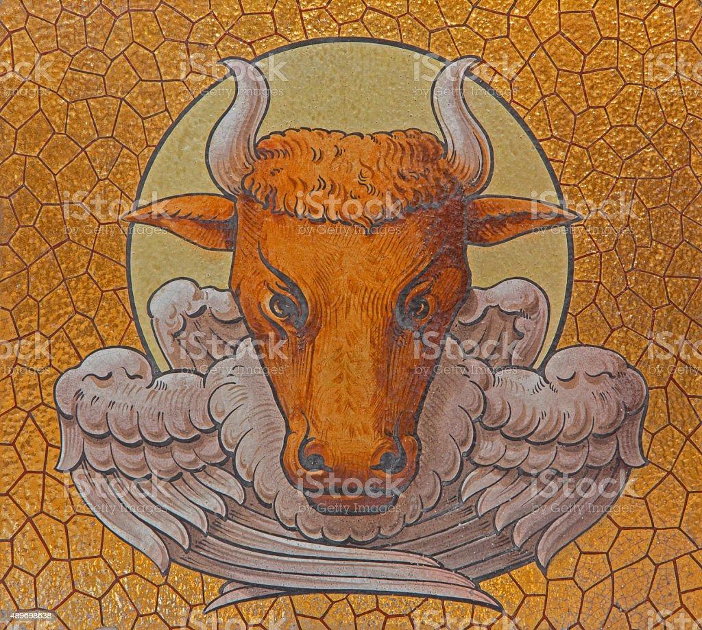 Jerusalem Bull As Symbol Of St Luke The Evangelist Stock Photo