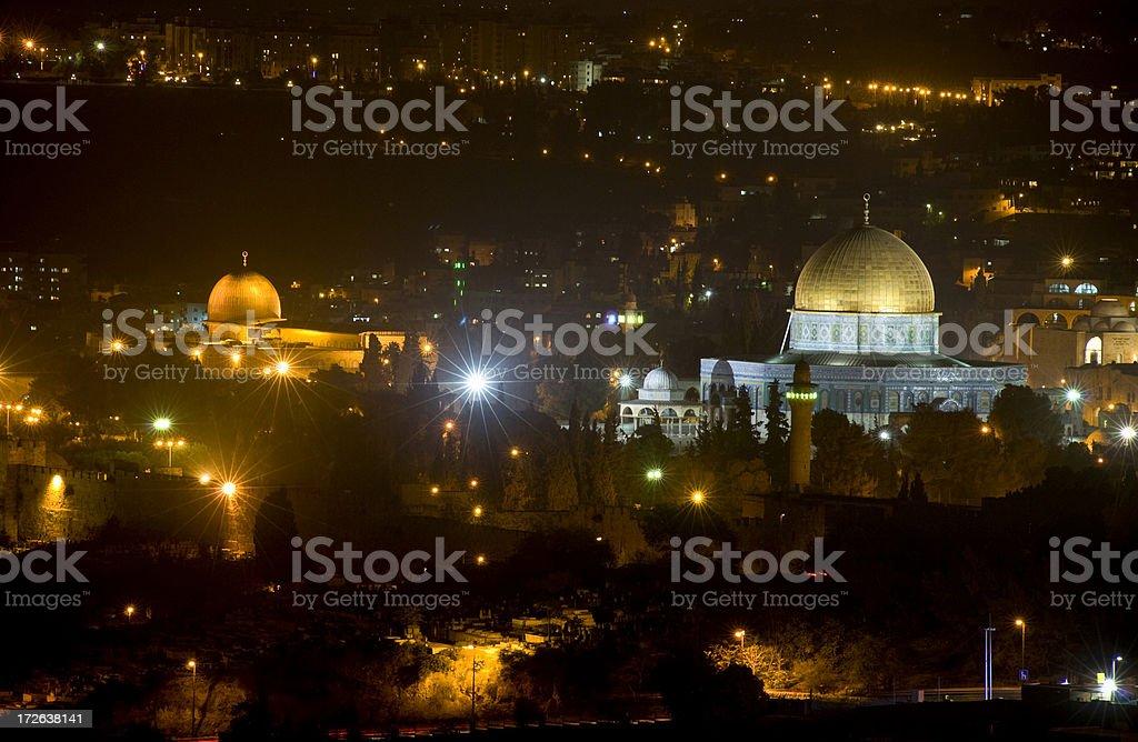 Jerusalem by night royalty-free stock photo