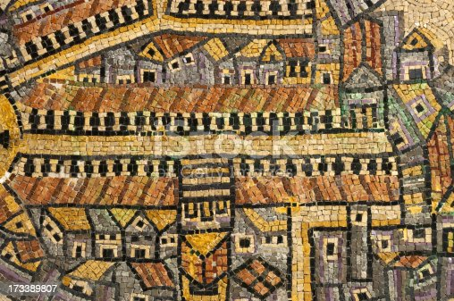 The cardo street mosaic in Jerusalem old city