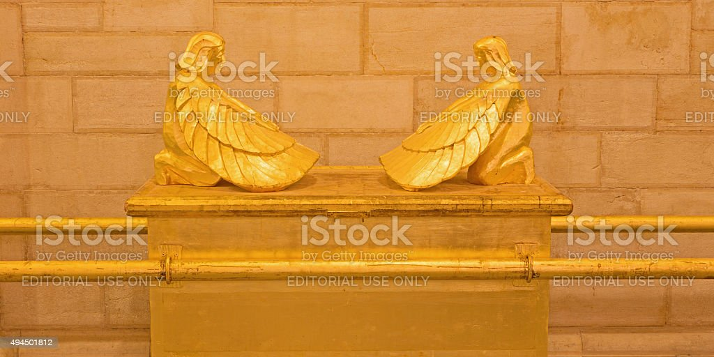 Jerusalem - carved Ark of the Covenant stock photo