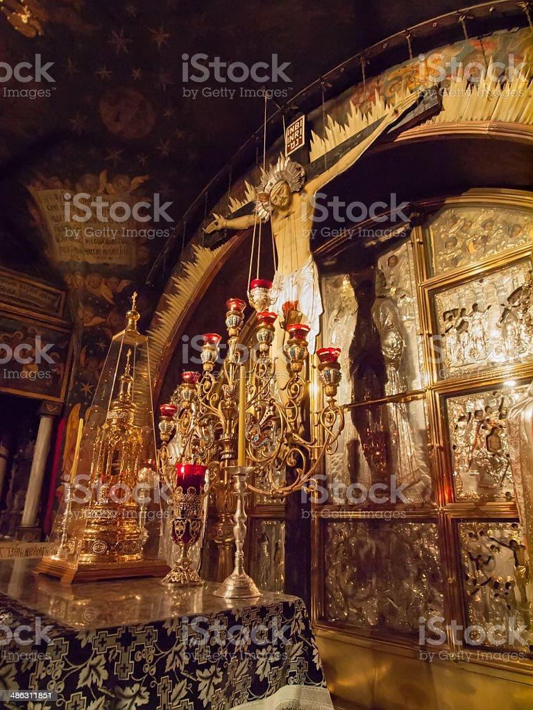 Jerusalem 'Church of the Holy Sepulchre' calvary stock photo