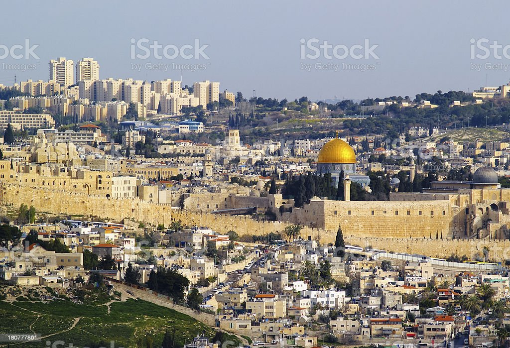 Jerusalem Cityscape stock photo