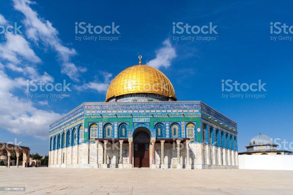 Jerusalem Dome of the Rock stock photo