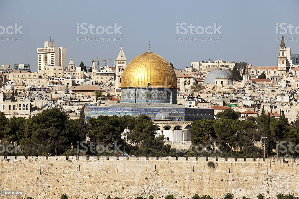 Jerusalem, Dome of the Rock royalty-free stock photo