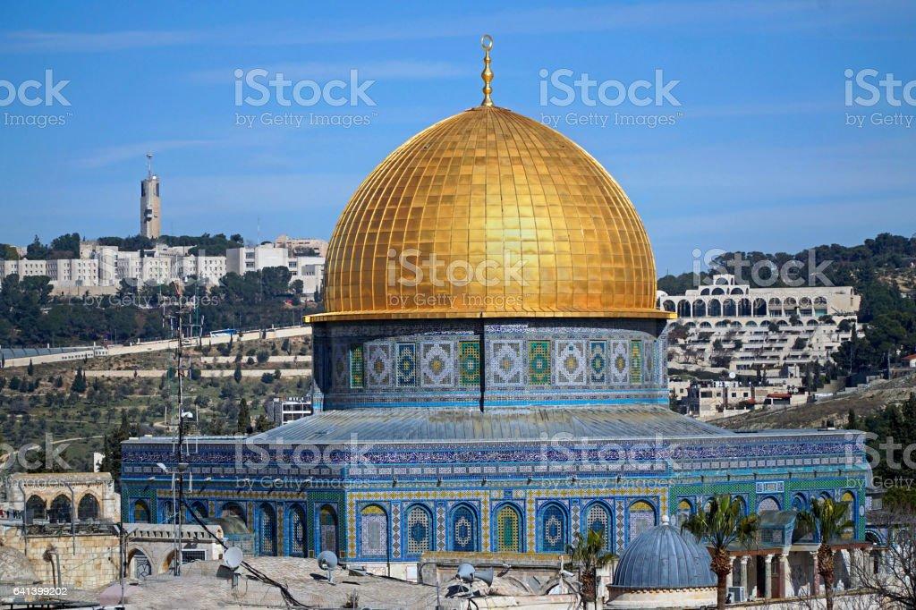 Jerusalem, Dome of the Rock stock photo