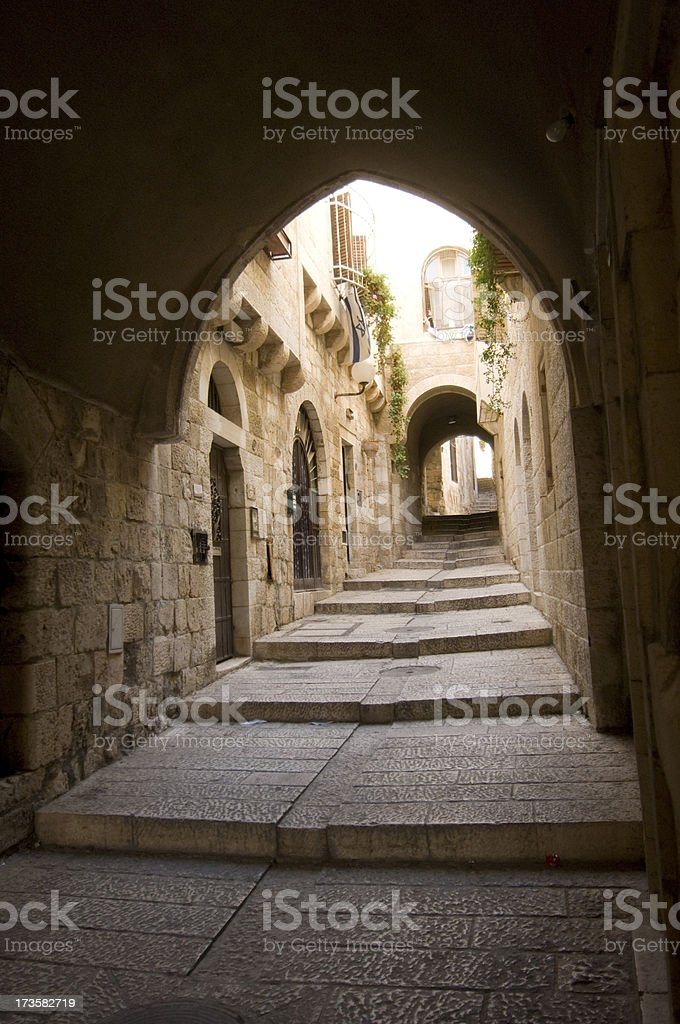 Jerusalem downtown royalty-free stock photo