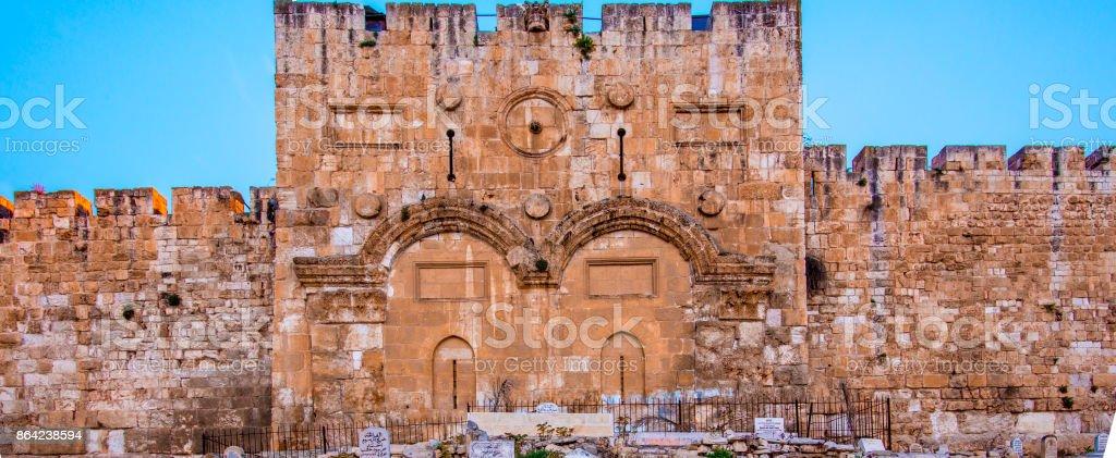 Jerusalem Golden Gate royalty-free stock photo