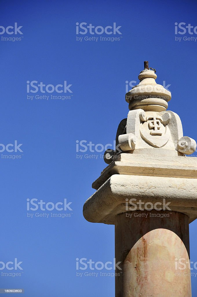 Jerusalem, Israel: Muristan fountain detail royalty-free stock photo