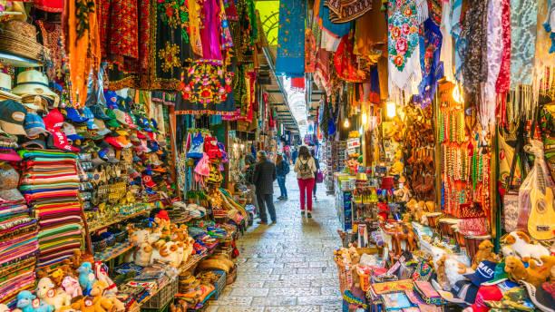 jerusalem, israel - bazar mercato foto e immagini stock