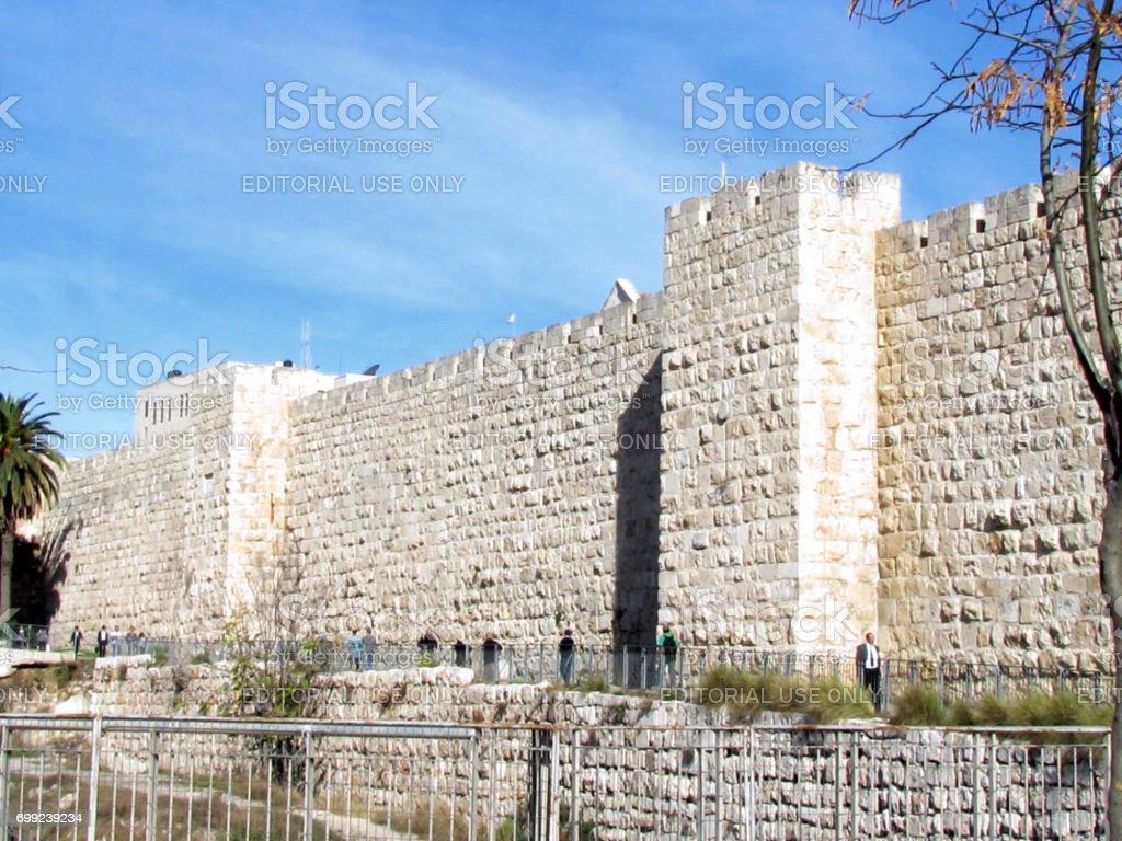 Jerusalem Jaffa Gate ancient wall 2012 stock photo