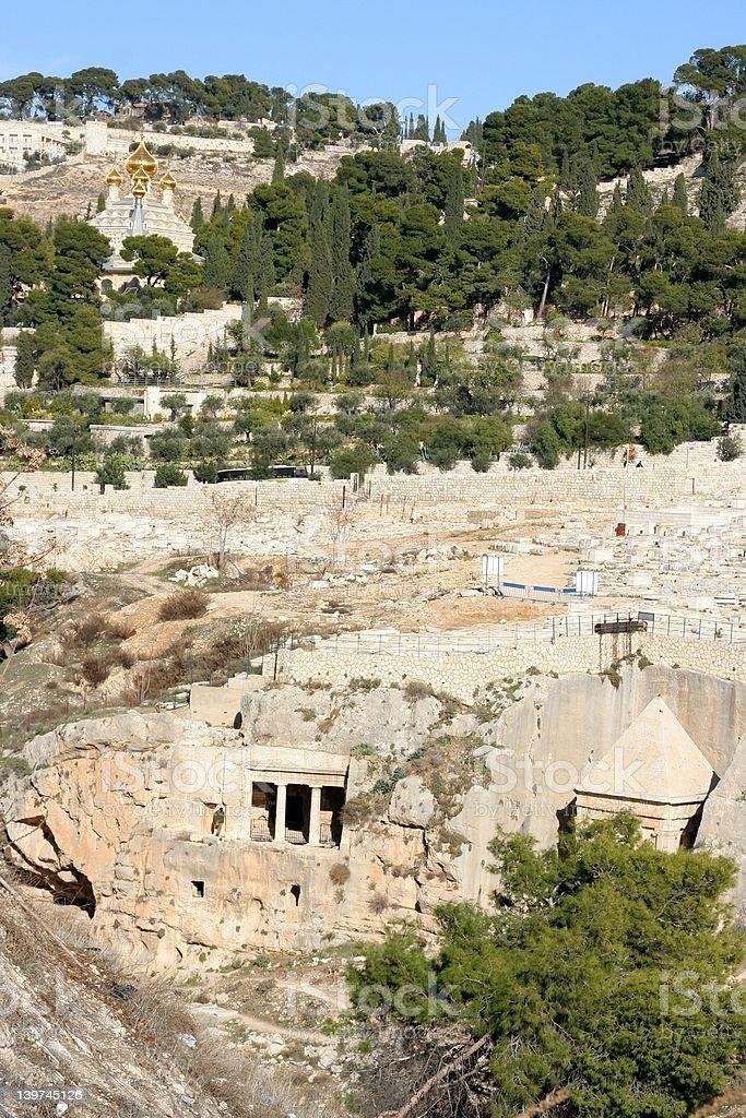 Jerusalem, mount of olives stock photo