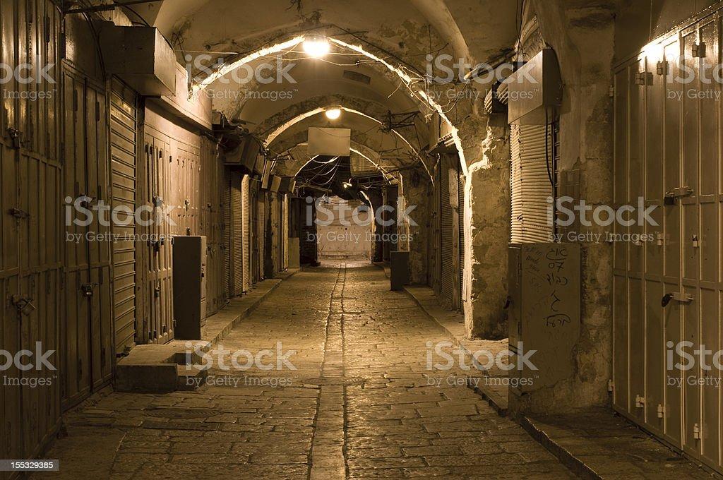 Jerusalem Old City Alley royalty-free stock photo