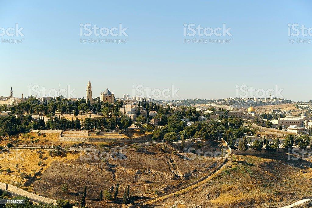 Jerusalem old city landscape royalty-free stock photo