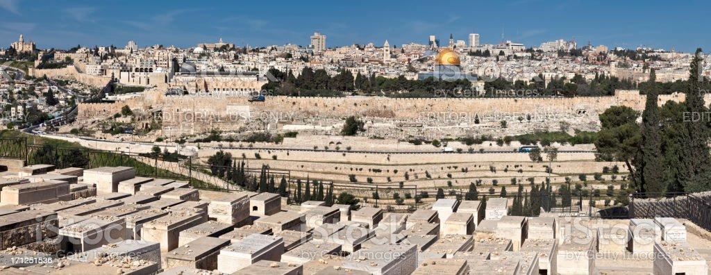 Jerusalem Old City Panorama royalty-free stock photo