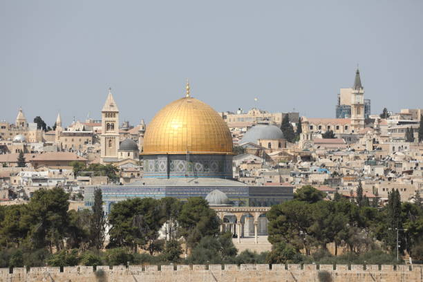 Jerusalem old city panoramic aerial view Jerusalem old city panoramic aerial view jerusalem old city stock pictures, royalty-free photos & images