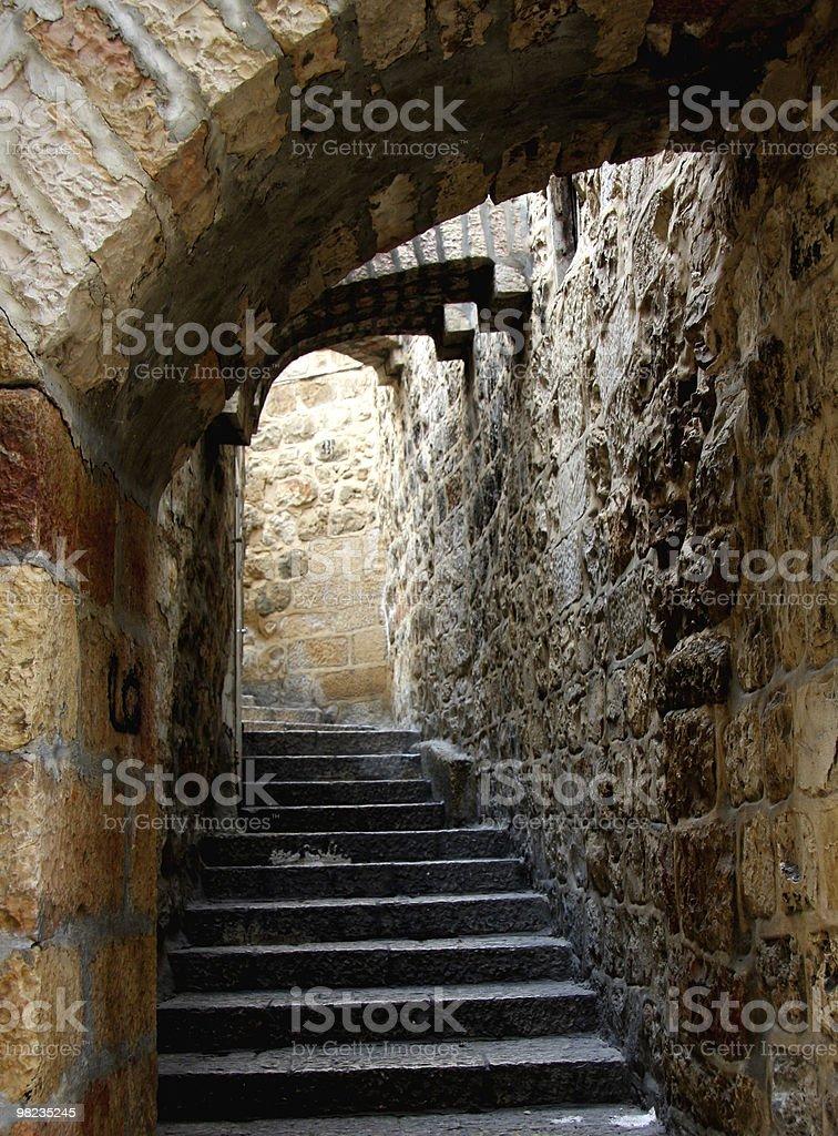Città vecchia strada di scale foto stock royalty-free