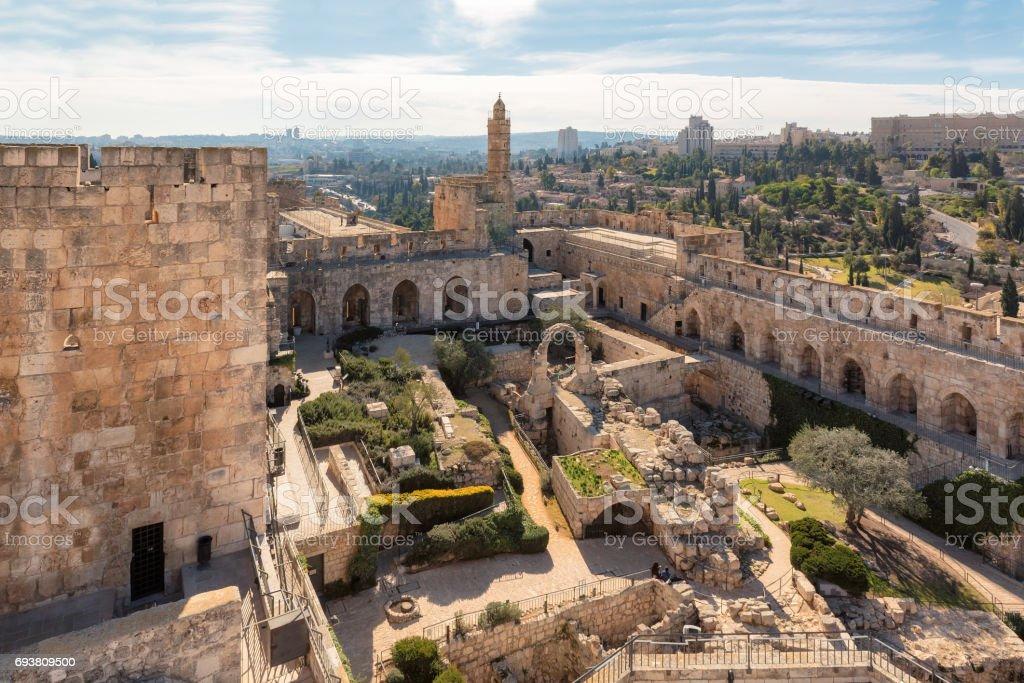 Jerusalem Old City - Tower of David. stock photo