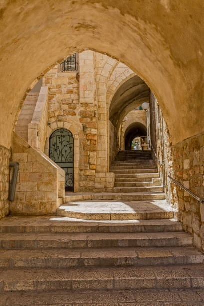 Jerusalem old street Narrow street in the old city of Jerusalem, Israel. jerusalem old city stock pictures, royalty-free photos & images